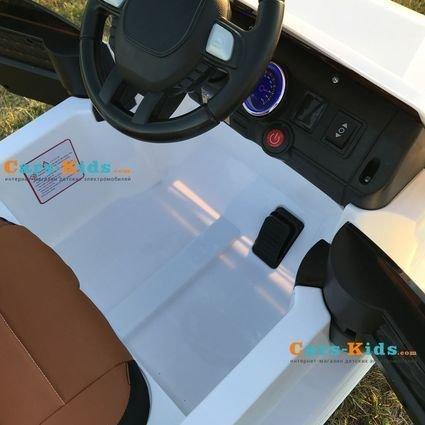 Электромобиль Мерседес Гелик М001МР NEW белый (колеса резина, кресло кожа, пульт, музыка)