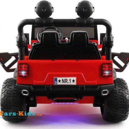 Электромобиль Jeep Wrangler Red 4WD - SX1718-A красный (кресло кожа , колеса резина, пульт, музыка)