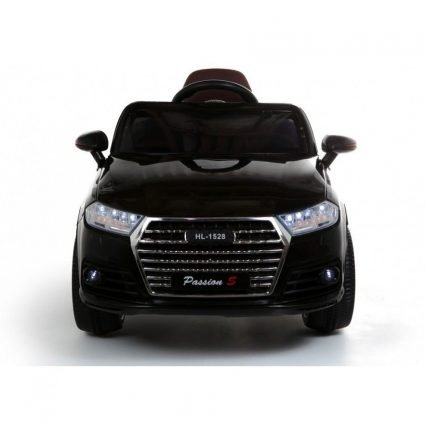 Детский электромобиль Audi Q7 Style 12V - HL-1528 черный (колеса резина, сиденье кожа, пульт, музыка)