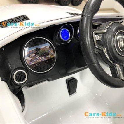 Электромобиль Mercedes Style 12V - HL-1558 черный  (колеса резина, сиденье кожа, пульт, музыка)