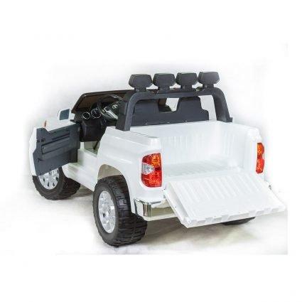 Электромобиль Toyota Tundra белый (двухместный, колеса резина, кресло кожа, музыка, комплектация без пульта/с пультом)