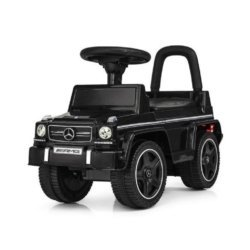Каталка-толокар Mercedes-Benz G63 AMG - JQ663-BLACK (кожаное кресло, звуковые эффекты)